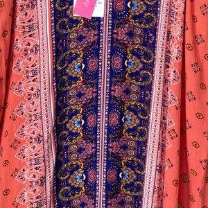 Xhilaration Dresses - XHILARATION PRINTED BOHO PAISLEY SHIFT DRESS